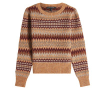 Strickpullover aus Wolle, Mohair und Alpakawolle