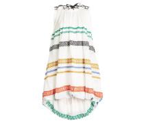 Besticktes Minikleid aus Leinen und Baumwolle