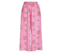 Bedruckte Pyjama-Pants aus Seide