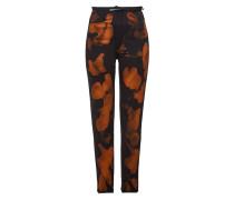 Bedruckte Skinny Jeans Crossover Hem