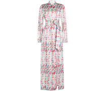 Bedrucktes Hemdblusenkleid Andina aus Seide