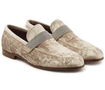 Loafers aus Samt mit Décor