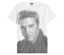 Bedrucktes T-Shirt Elvis Portrait aus Baumwolle und Kaschmir