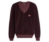 Besticktes Sweatshirt aus Samt