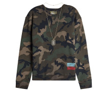 Camouflage Sweatshirt aus Baumwolle