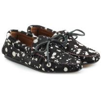 Bedruckte Loafers aus Kalbsfell