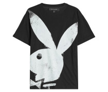 T-Shirt mit Bunny-Print