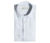 Gemustertes Hemd aus Baumwolle und Seide