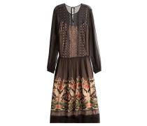 Besticktes Kleid aus Seide