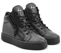High-Top-Sneakers aus Leder mit Nieten