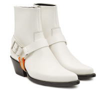 Ankle Boots Tex Harness aus Spazzolato Leder