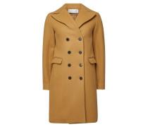 Zweireihiger Mantel aus Wolle und Baumwolle