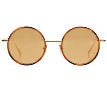 Runde Sonnenbrille Scientist in Schildpatt-Optik