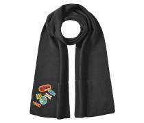 Bestickter Schal aus Wolle