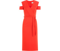 Kleid in Wickel-Optik mit Cut-Out-Schultern