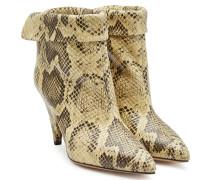 Ankle Boots Lisbo aus Leder in Snake-Optik
