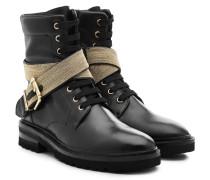 Ankle Boots Chain Road aus Leder mit Décor