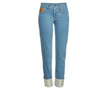 Straight Leg Jeans mit Coating