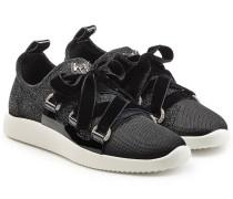Sneakers mit Samt und Glitter