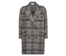 Karierter Mantel Ebra mit Schurwolle und Wolle