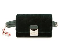 Gesteppte Gürteltasche Velvet Bum Bag aus Samt