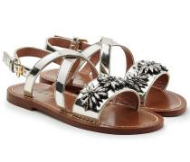 Sandalen aus Leder mit Schmucksteinen
