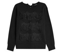 Sweatshirt aus Baumwolle mit Fransen-Details