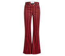 Gestreifte Flared Pants mit Baumwolle