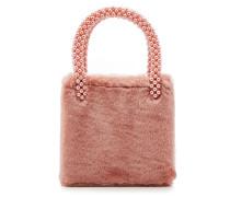 Handtasche Una mit Webpelz und Zierperlen