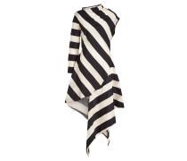 Asymmetrisches gestreiftes Kleid aus Baumwolle