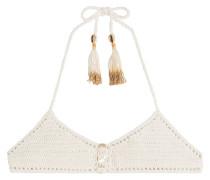Neckholder-Bikini-Top aus Häkelstrick