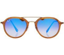 Sonnenbrille mit getönten runden Gläsern