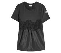 Besticktes T-Shirt aus Baumwolle mit Applikationen