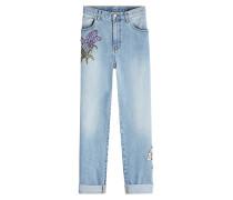 Bestickte Boyfriend Jeans