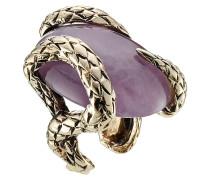 Statement-Ring aus Metall mit Halbedelstein