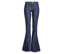 Flared Jeans mit Kellerfalten