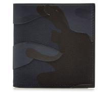 Bedrucktes Portemonnaie mit Leder