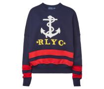 Besticktes Sweatshirt Anchor aus Baumwolle