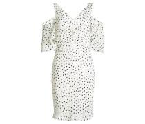 Off-Shoulder-Kleid mit Punkten