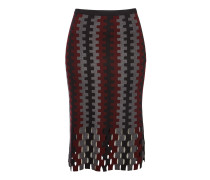 Knielanger Flared-Skirt aus Merinowolle