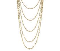 Vergoldete Silberkette mit Lapis