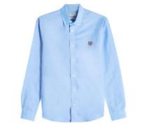 Besticktes Hemd aus Leinen und Baumwolle