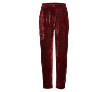 Cropped Pants aus Samt-Cord