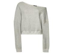 Cropped Off-Shoulder-Sweatshirt aus Baumwolle