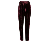 Straight Leg Pants aus Samt