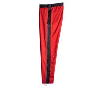Track Pants aus Schurwolle mit Zipper