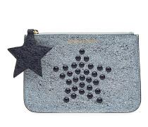 Verzierte Clutch Star Stud aus beschichtetem Leder
