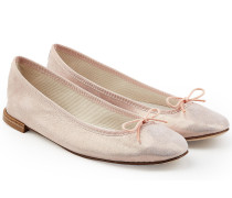 Ballerinas aus beschichtetem Leder