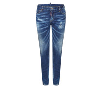 Distressed Slim Jeans mit Patch