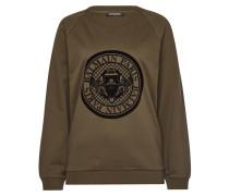Sweatshirt aus Baumwolle mit Flock-Print